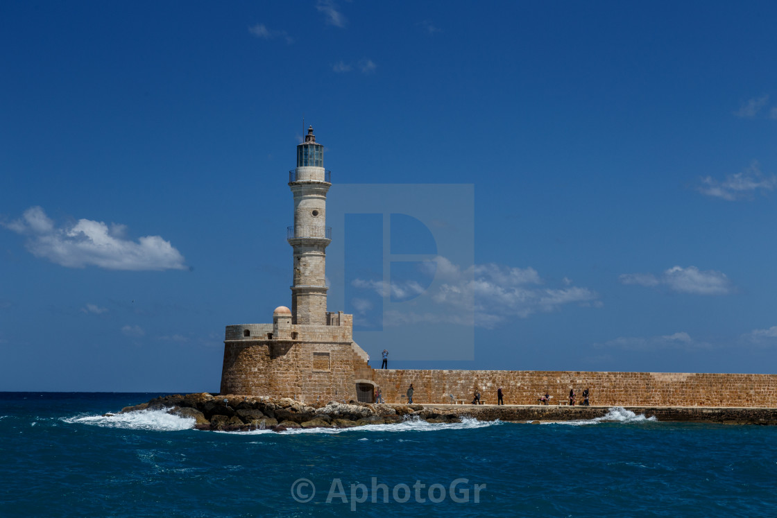 """The lighthouse of Chania"" stock image"