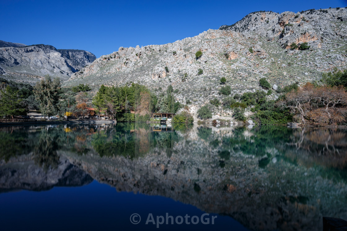"""Lake of Zaros"" stock image"