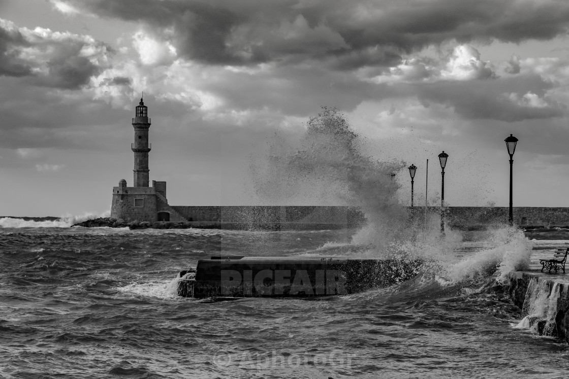 """Windy Chania"" stock image"
