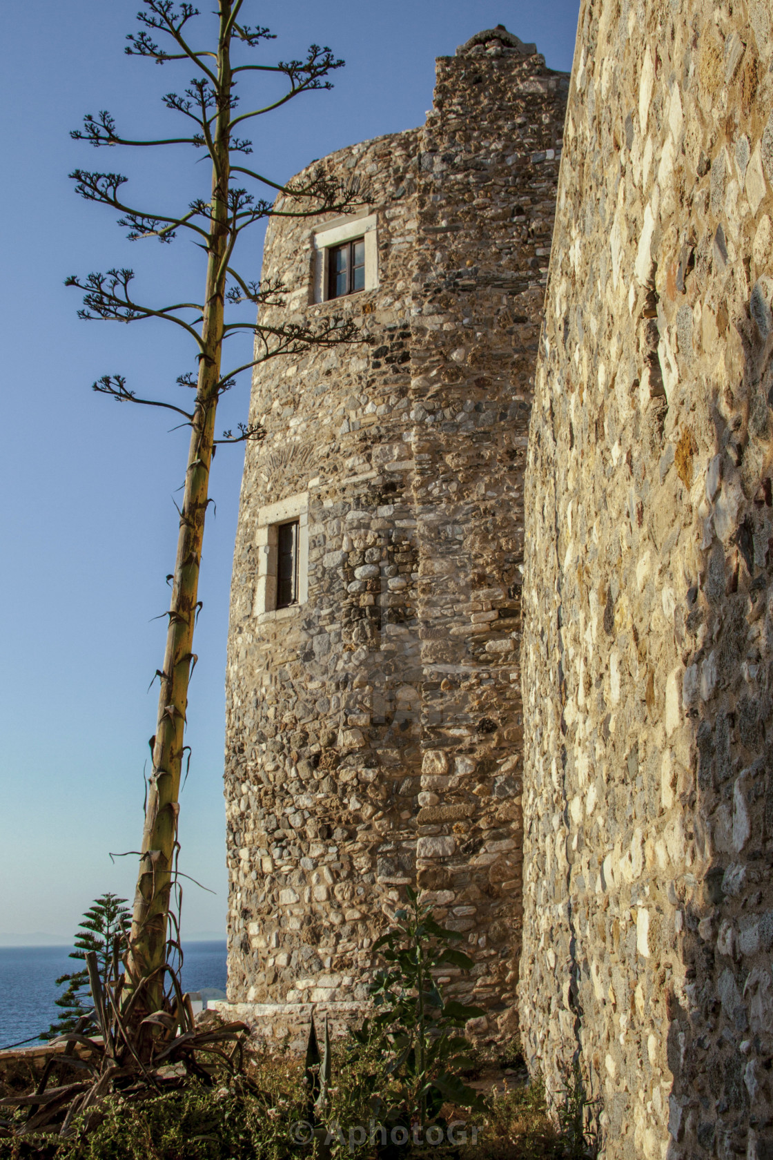 """Tower at Naxos Island"" stock image"