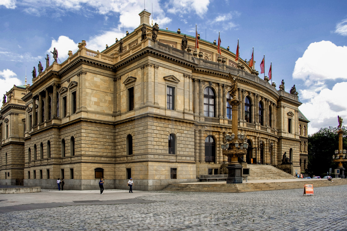 """Rudolfinum Concert Hall at Prague"" stock image"