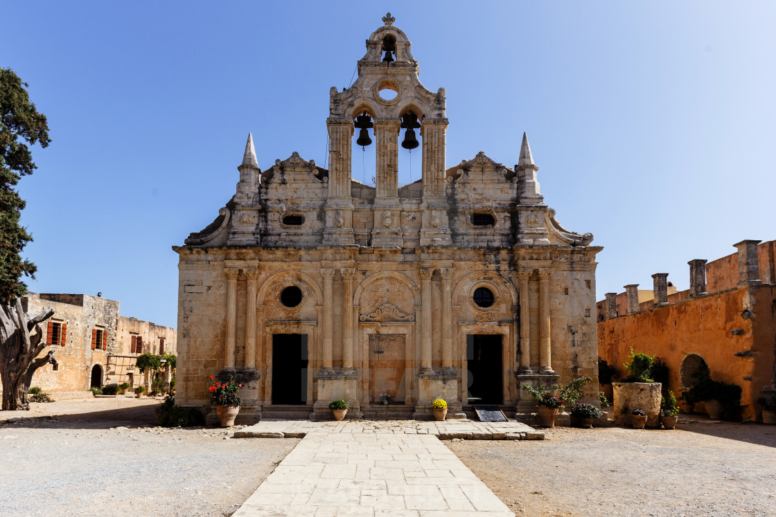 """Arkadi Monastery Church Crete"" stock image"