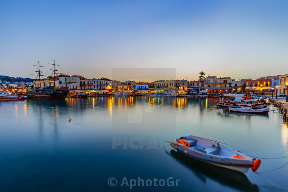 """Rethymnon old port"" stock image"