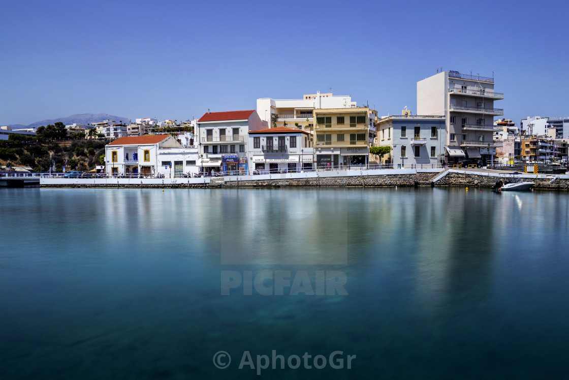"""View of Agios Nikolaos City Crete Greece"" stock image"