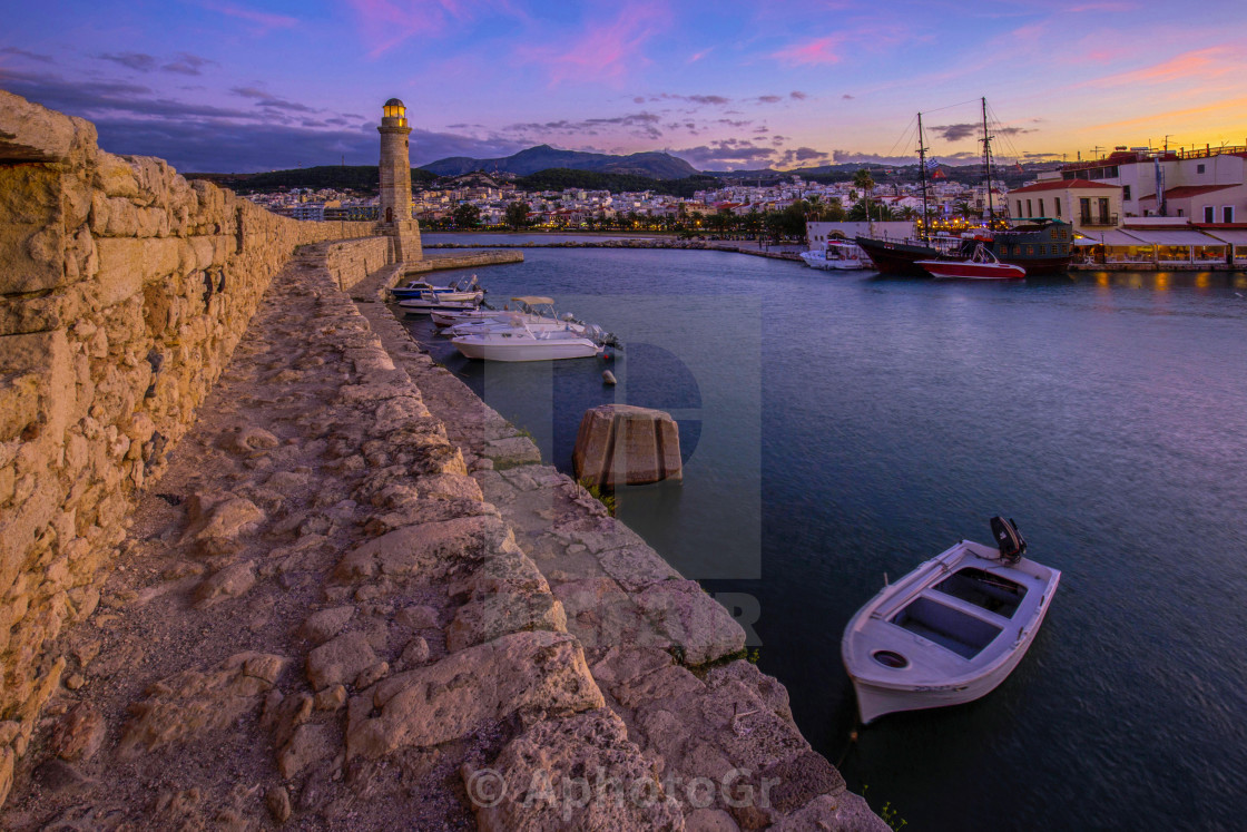 """Harbour of Rethymno City"" stock image"