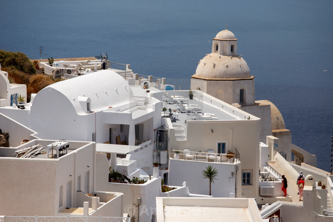 """View from Fira - Santorini"" stock image"