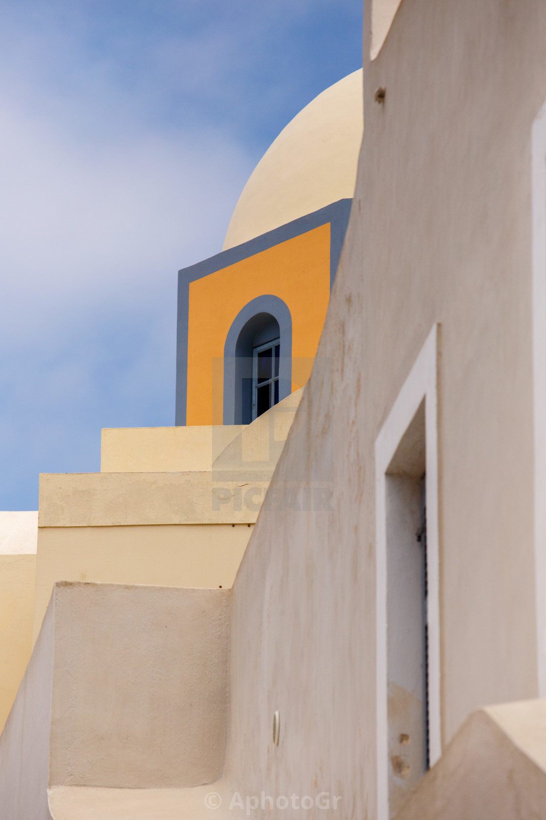"""Church at Fira town - Santorini"" stock image"