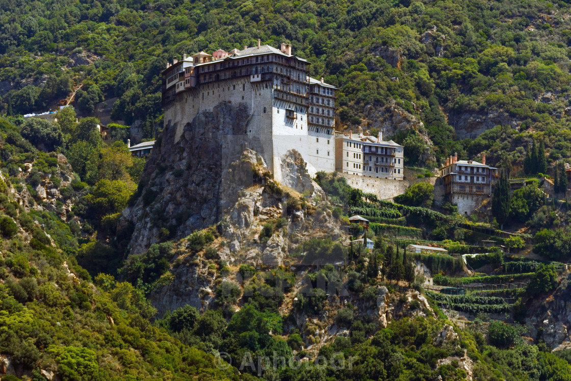 """Monastery at Mt. Athos"" stock image"