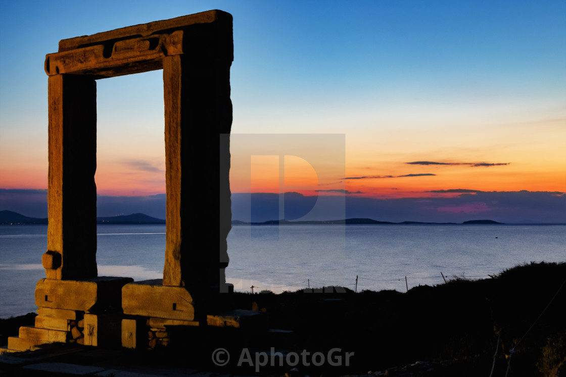 """Door of the temple of Apollon."" stock image"