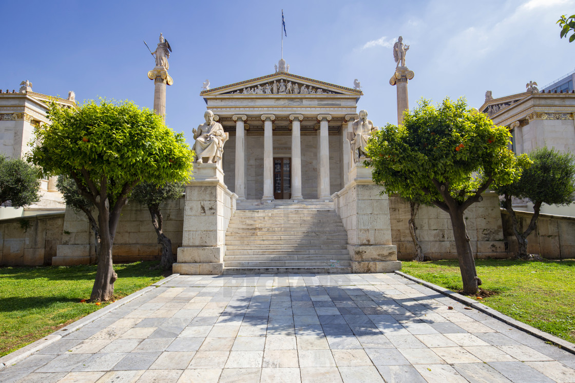 """Academy of Athens - Main Building"" stock image"
