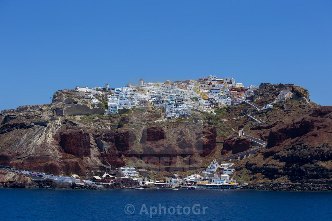 """View of Oia Village - Santorini Island"" stock image"