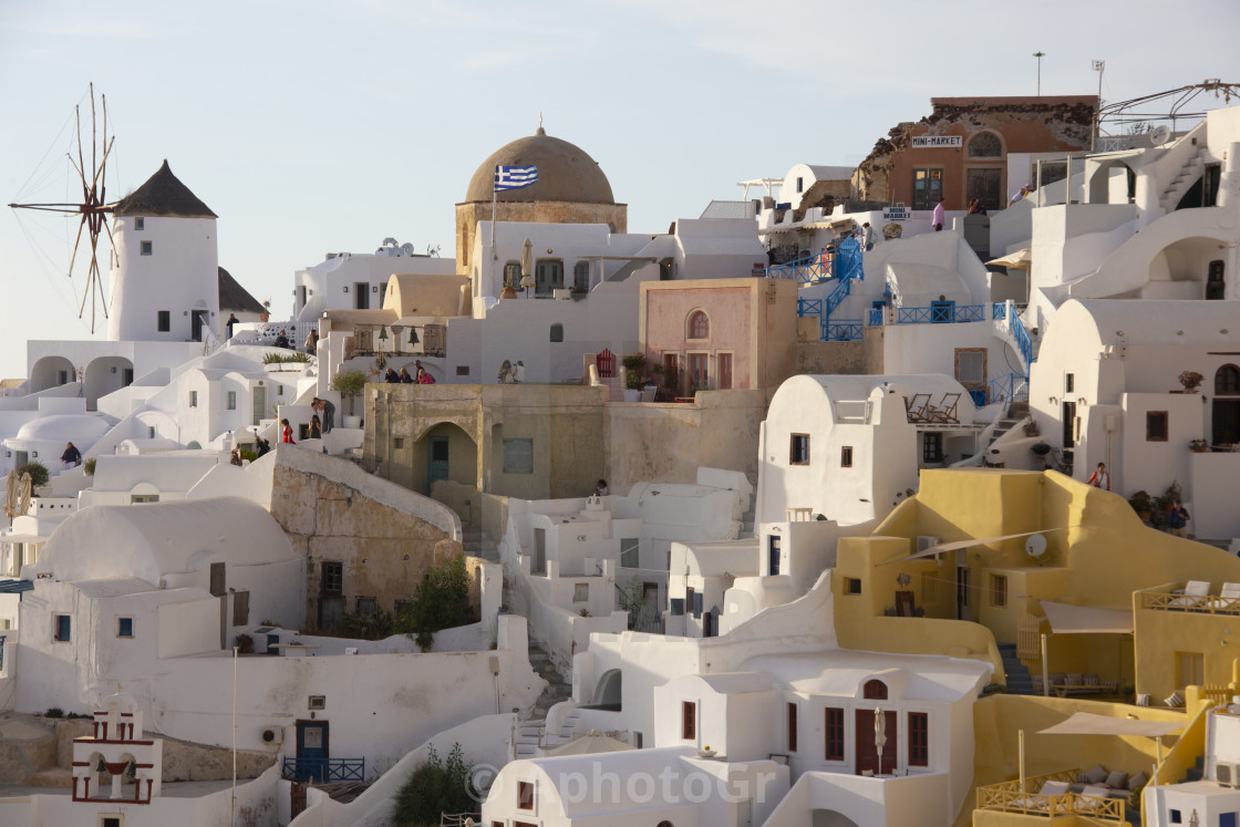 """Oia view"" stock image"