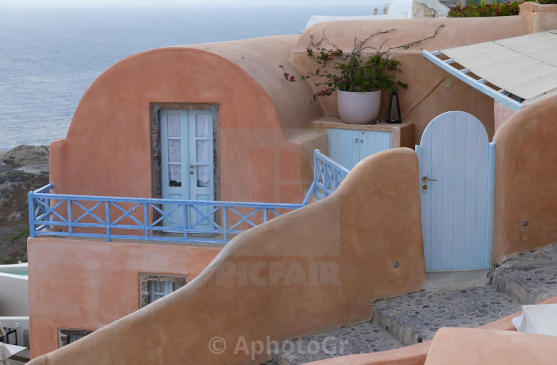 """Ping Building at Oia"" stock image"