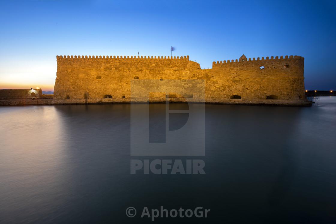 """Koules Castle of Heraklion Crete"" stock image"