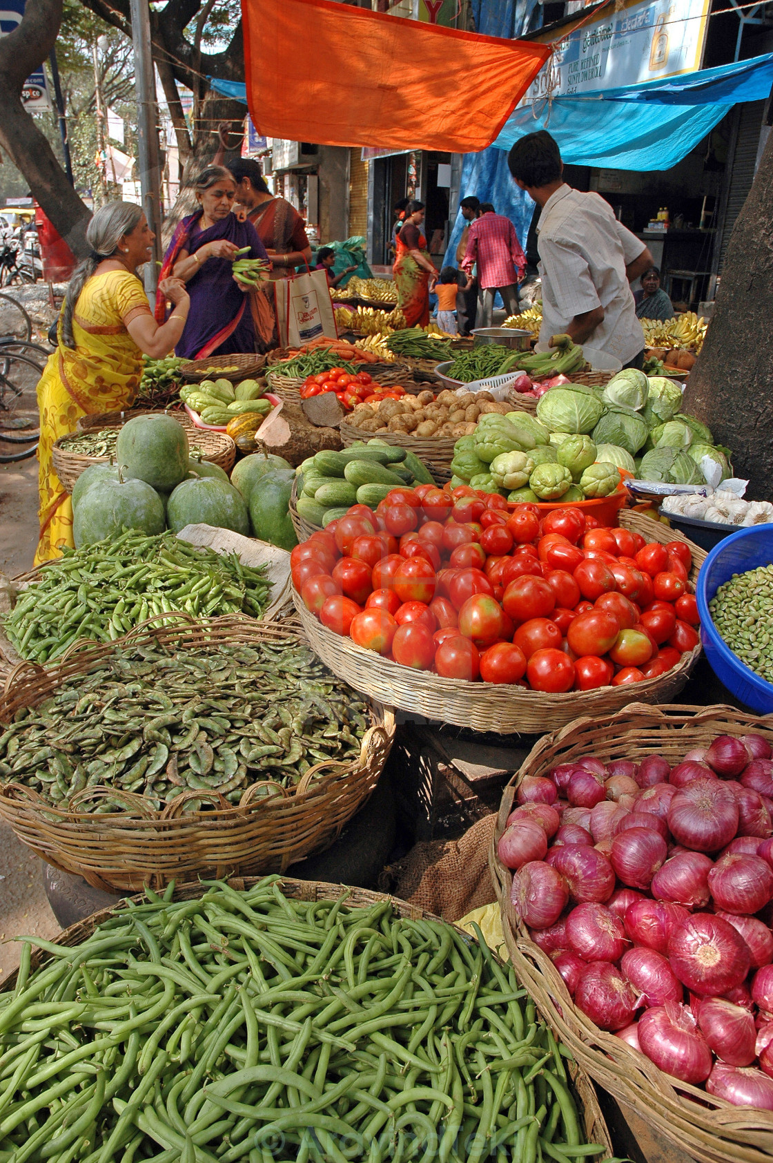 """Vegetable street market"" stock image"