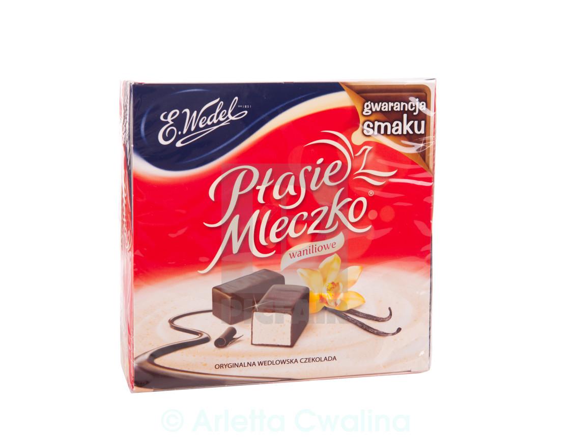 """Ptasie Mleczko red packet"" stock image"