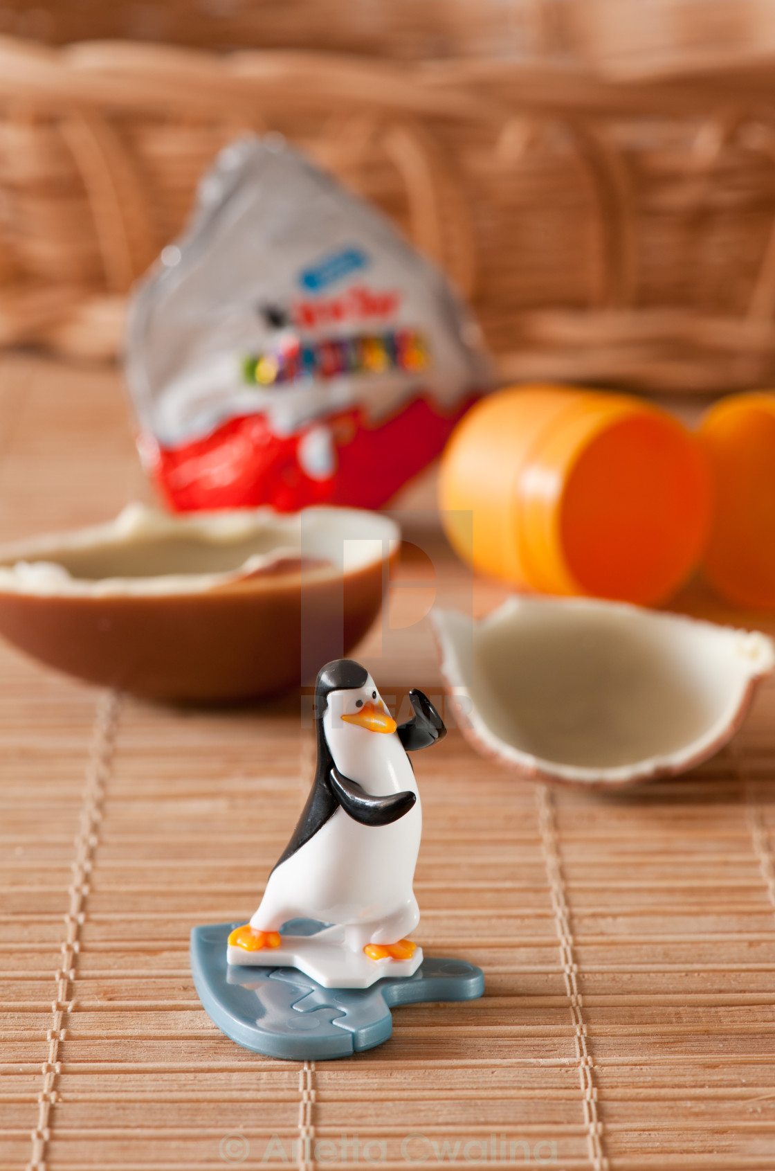 """Kinder surprise penguin toy"" stock image"