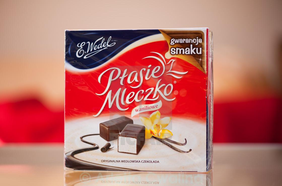 """""""Ptasie Mleczko Polish sweets"""" stock image"""