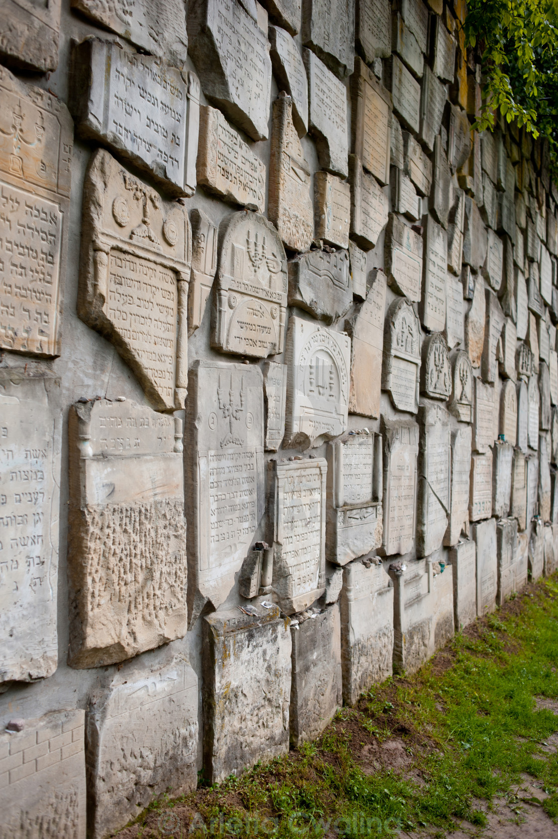 """Wall of Jewish Cemetery in Poland"" stock image"