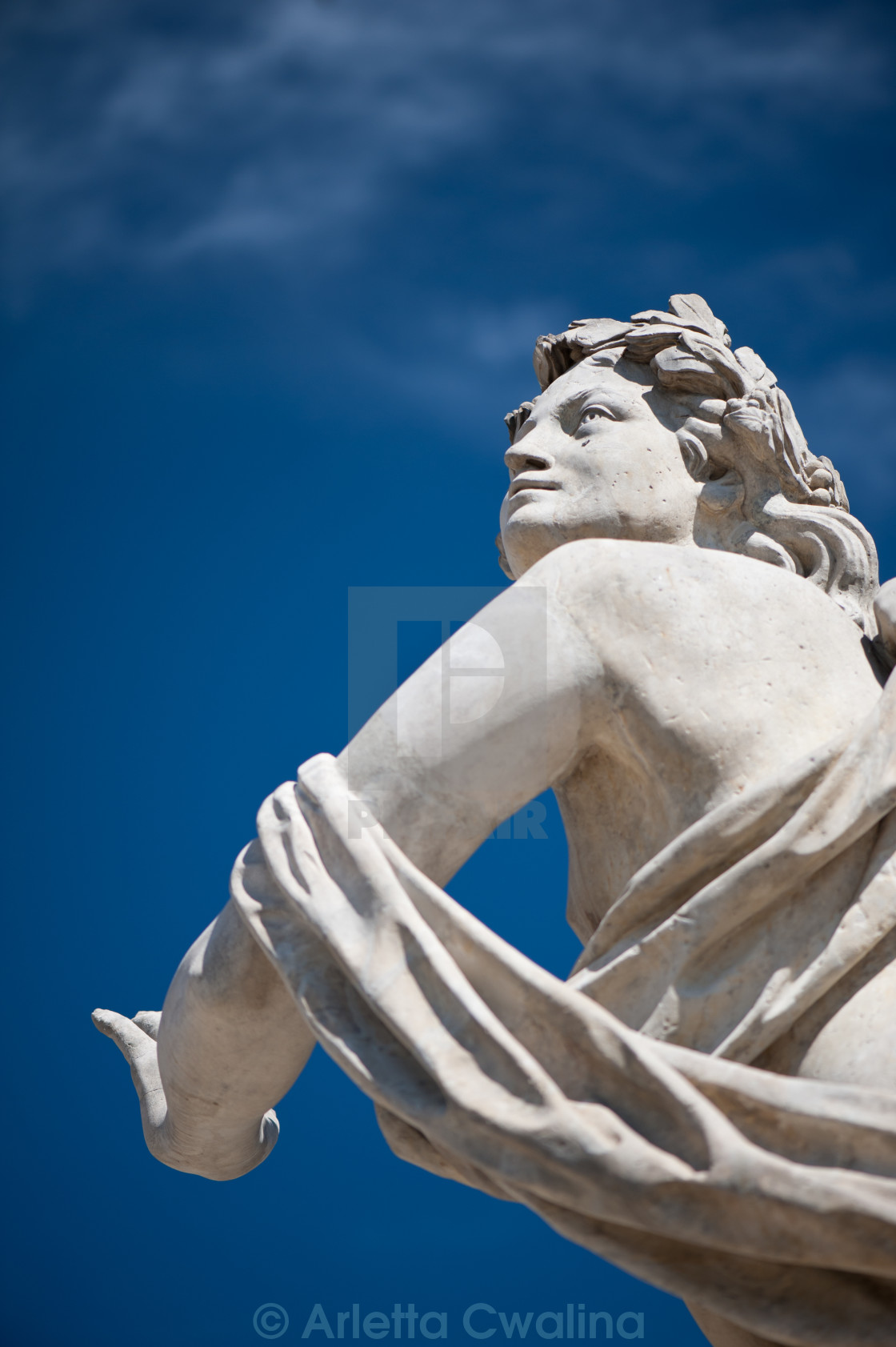 """Statue with Polarising filter"" stock image"