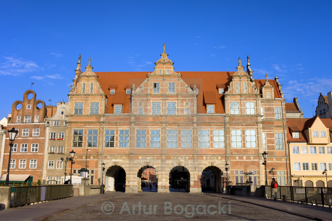 """Green Gate in Gdansk"" stock image"