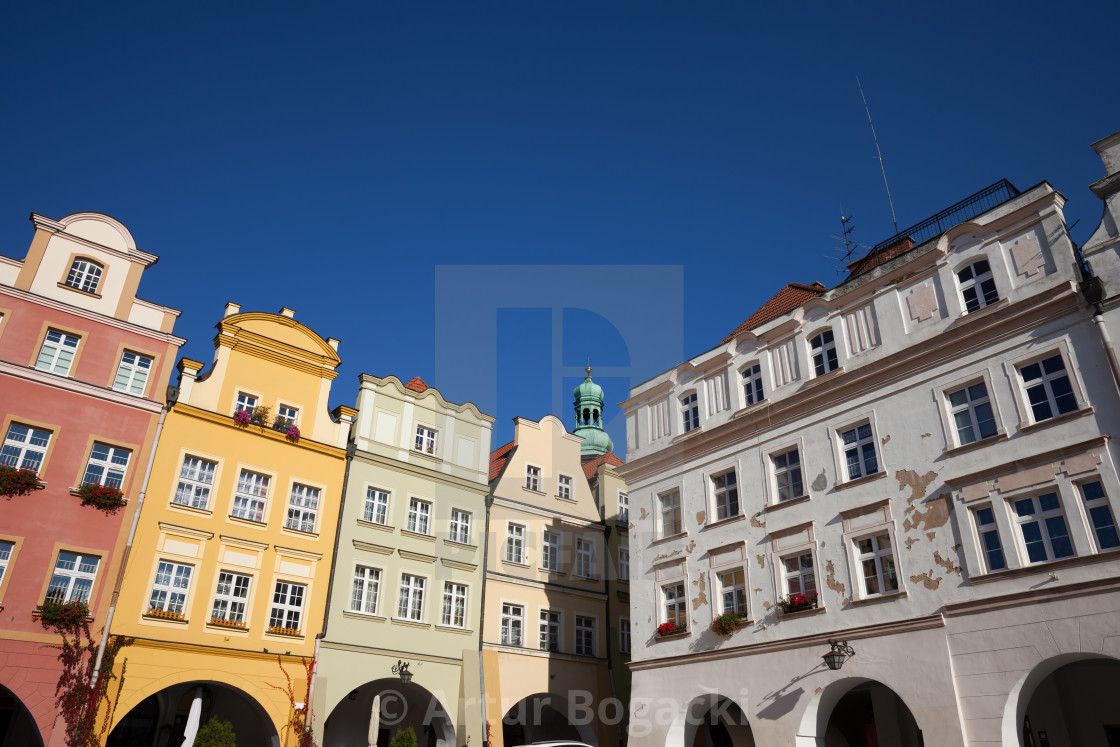 """Old Town Houses in City of Jelenia Gora"" stock image"