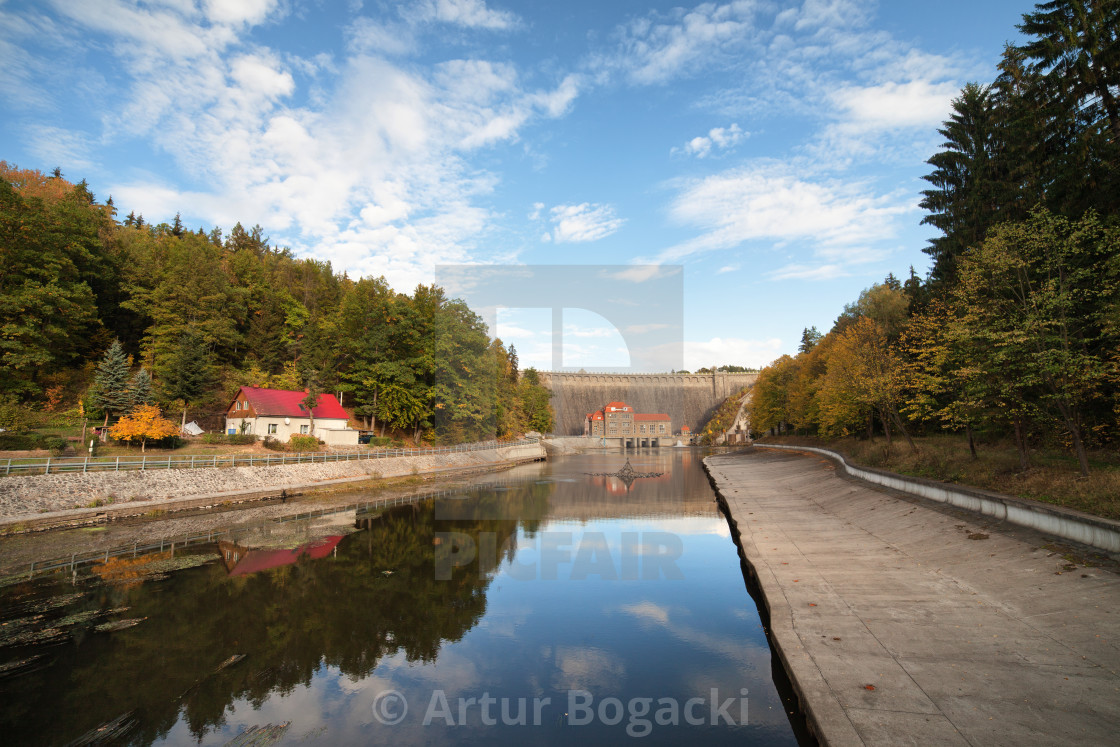 """""""Pilchowice Dam and Canal in Poland"""" stock image"""