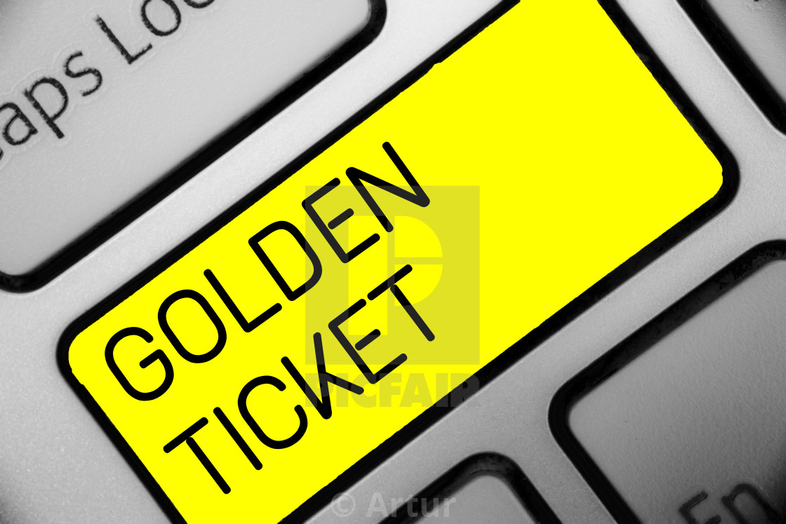 Conceptual hand writing showing Golden Ticket  Business