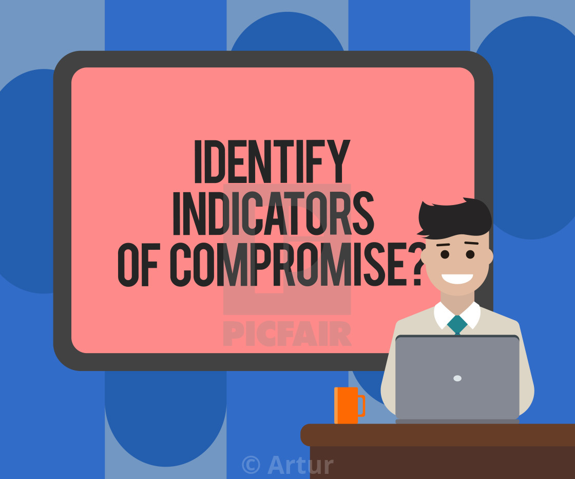 Handwriting text writing Identify Indicators Of Compromise