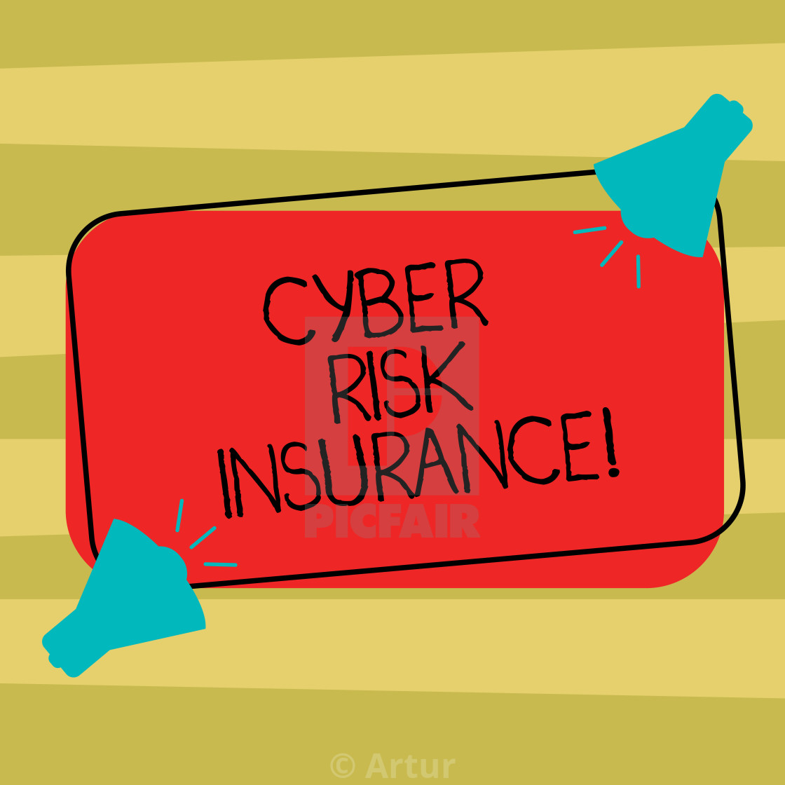 Text sign showing Cyber Risk Insurance  Conceptual photo covers