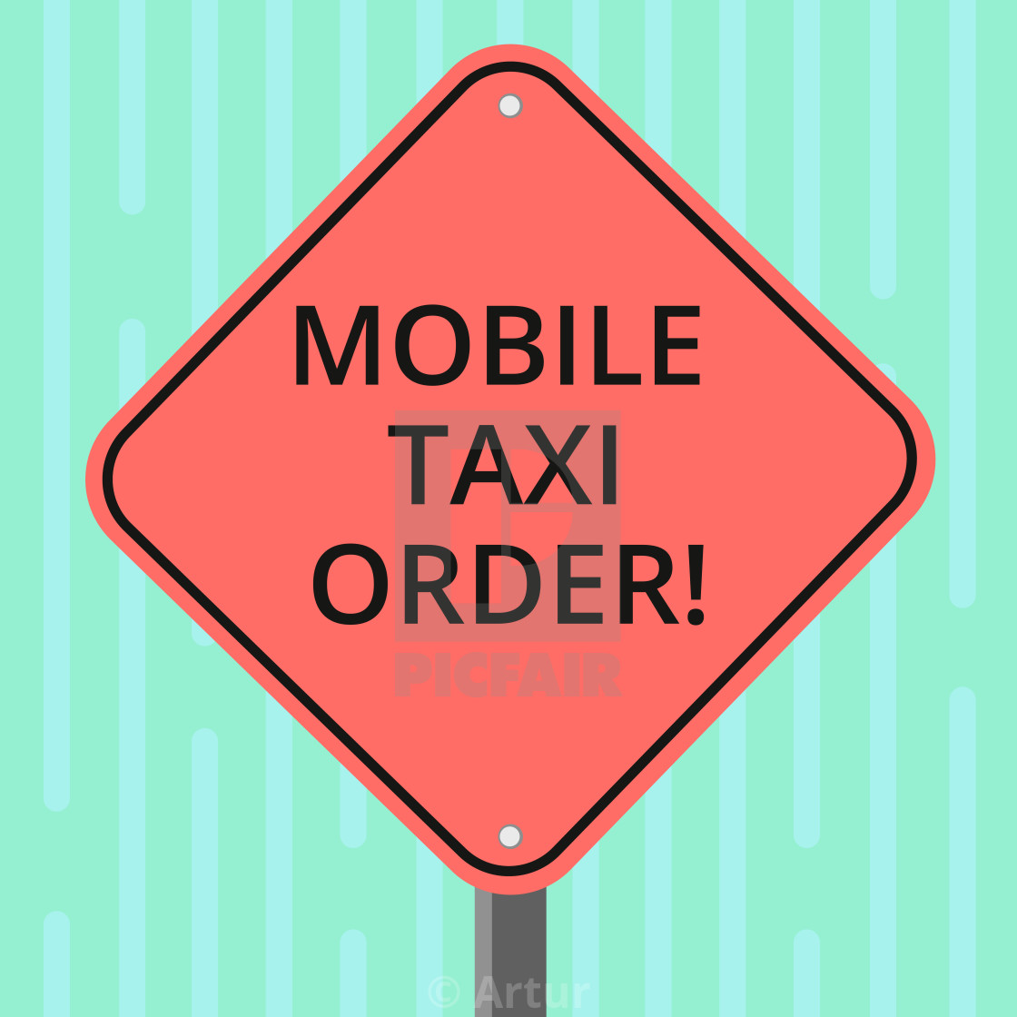 Word writing text Mobile Taxi Order  Business concept for