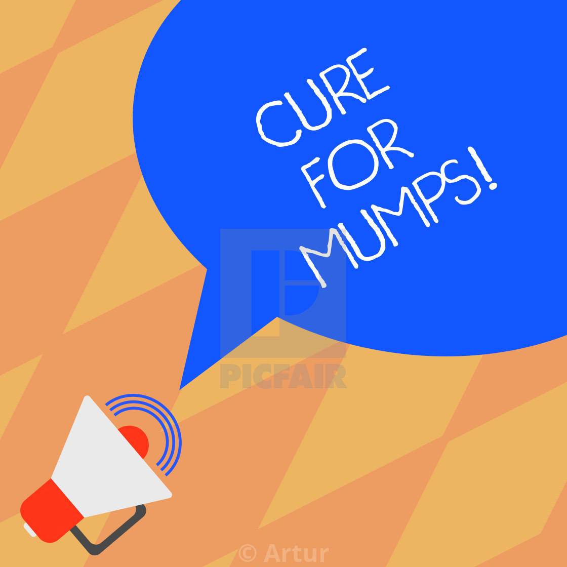Text sign showing Cure For Mumps  Conceptual photo Medical