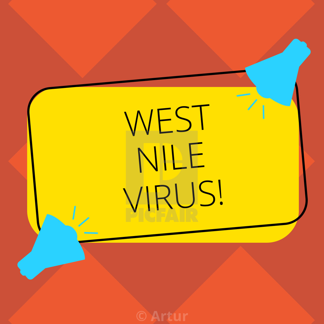 Handwriting text West Nile Virus  Concept meaning Viral