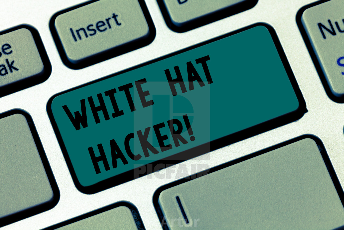 Text sign showing White Hat Hacker  Conceptual photo Computer