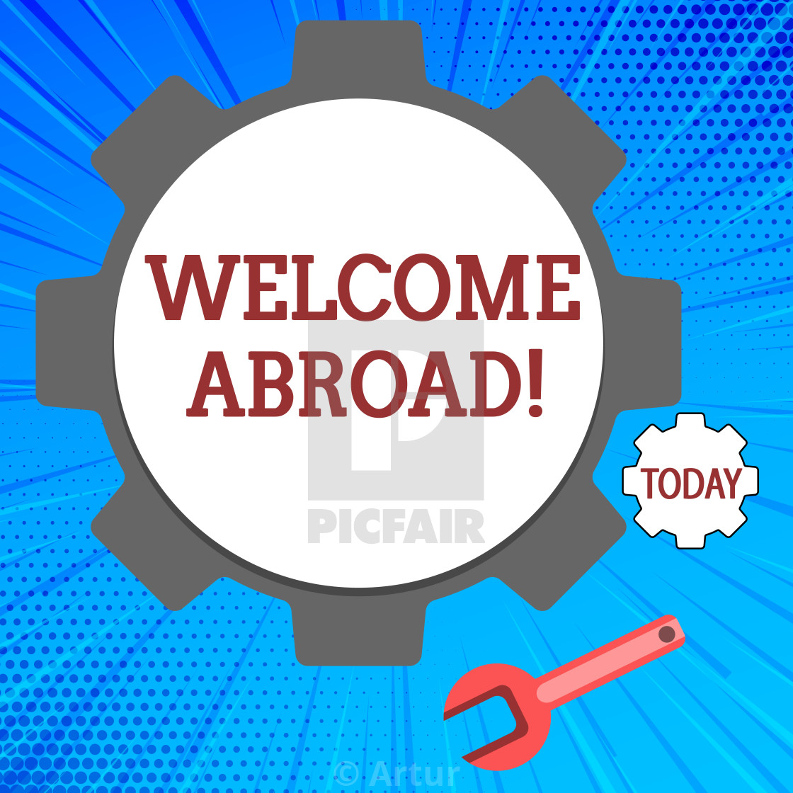 Handwriting text Welcome Abroad  Concept meaning something that you