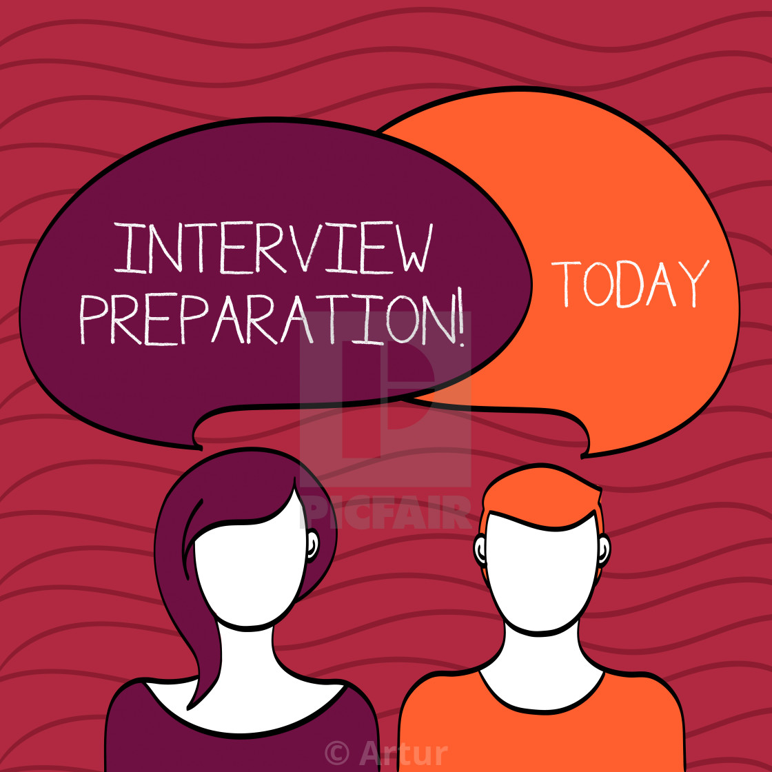 Handwriting Text Interview Preparation Concept Meaning