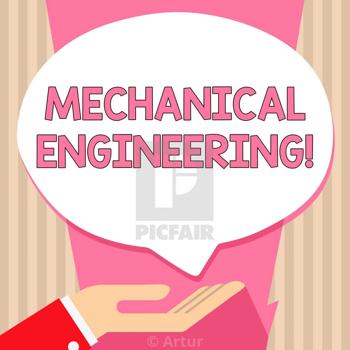 Handwriting text Mechanical Engineering  Concept meaning Concerned