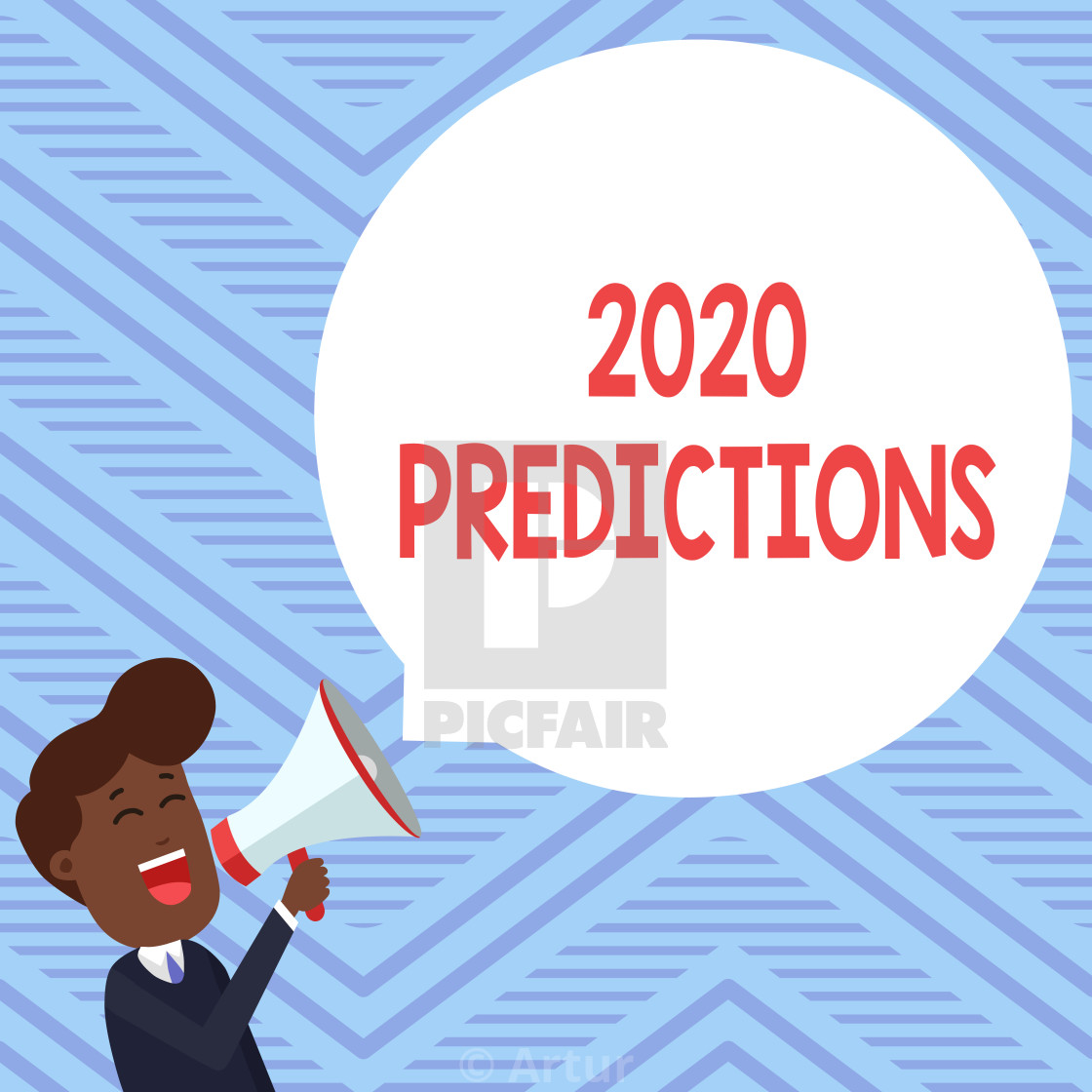 Word writing text 2020 Predictions  Business concept for