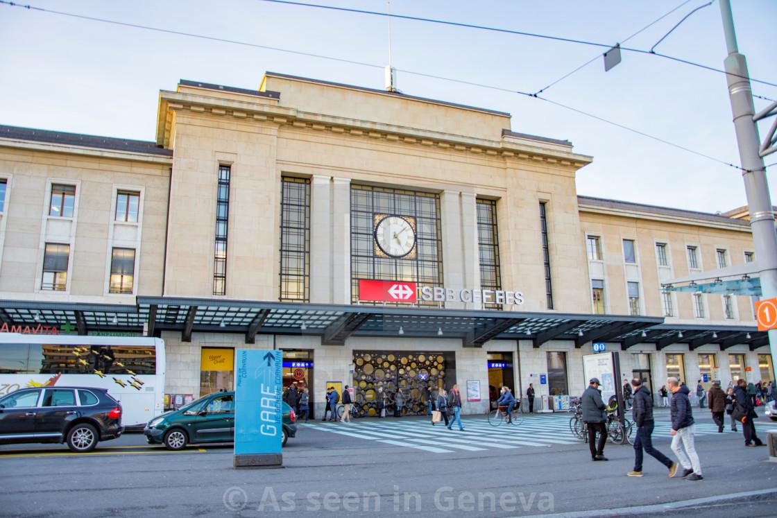 cornavin train station geneva switzerland gare cornavin gen ve suisse license for 9. Black Bedroom Furniture Sets. Home Design Ideas
