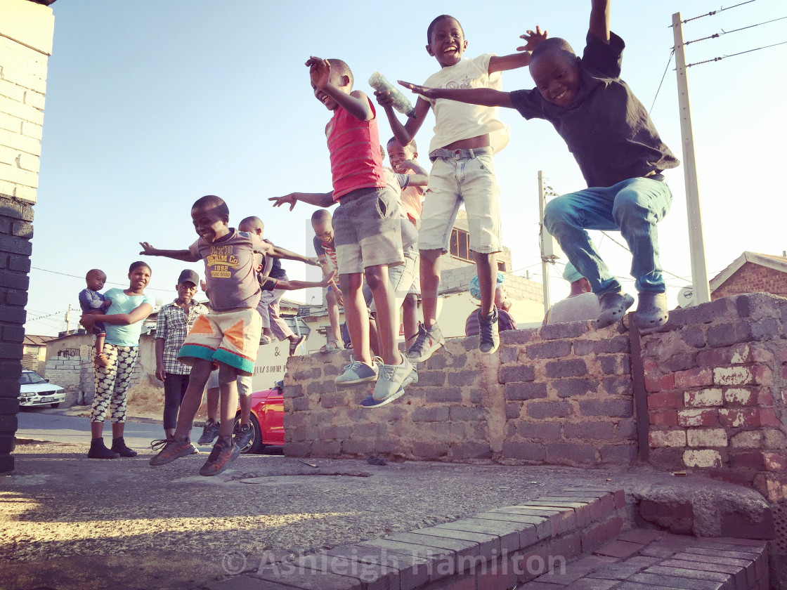 """JUMP - Alexandra South Africa"" stock image"