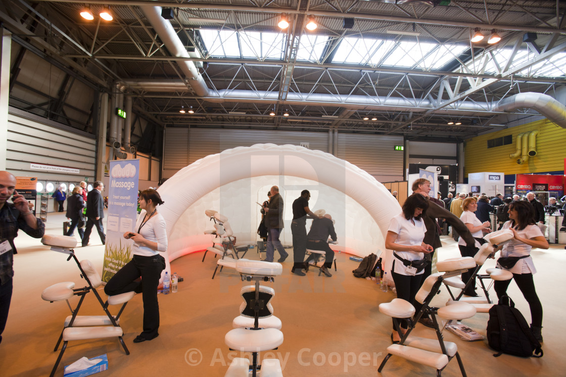D Printing Exhibition Nec : Seated massage being offered at an exhibition at the nec in
