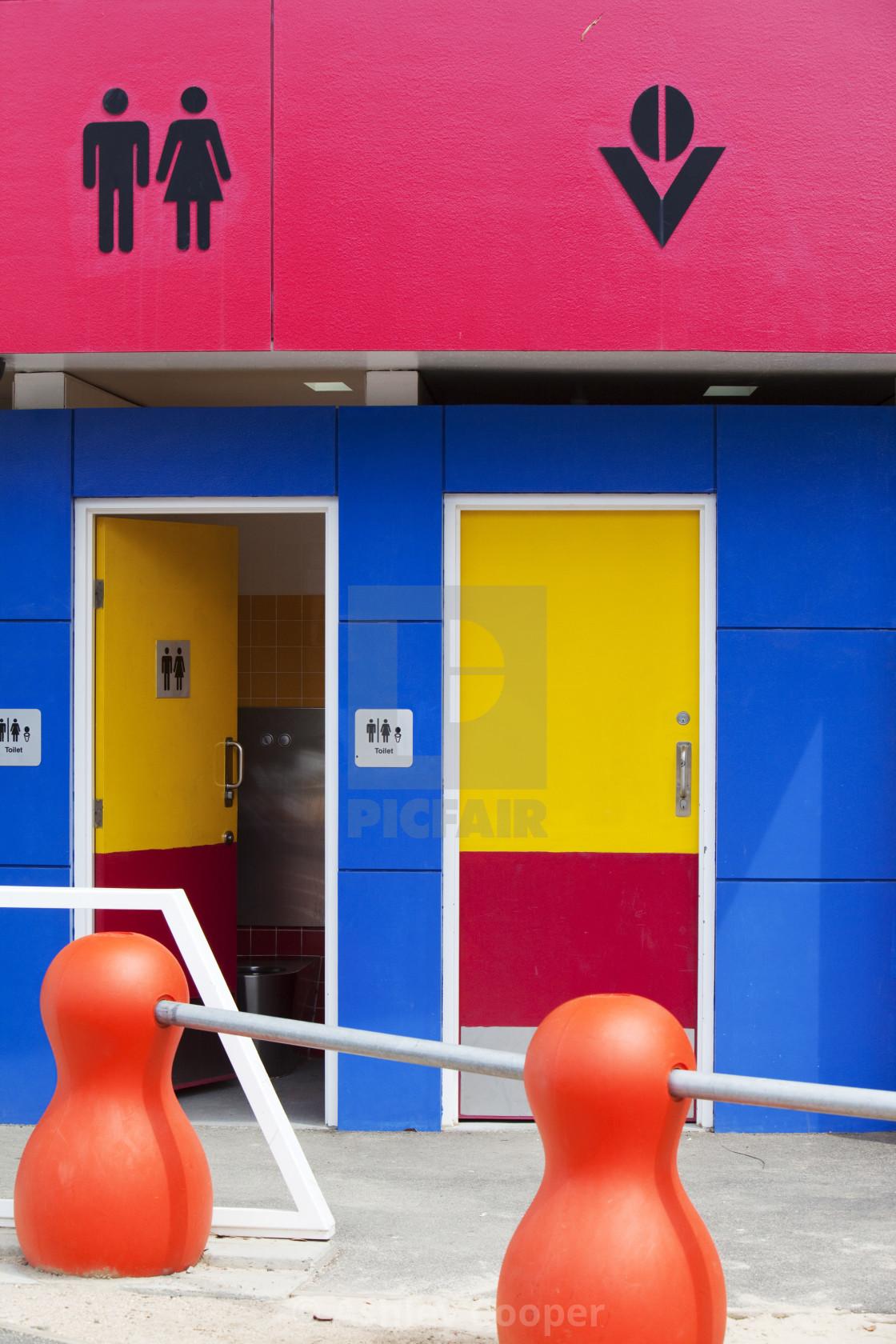 """Modern public toilets in Melbourne, Australia."" stock image"
