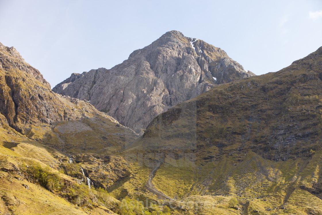 """Bidean nam Bian a Munro and the highest peak in Argyll, in Glen Coe,..."" stock image"