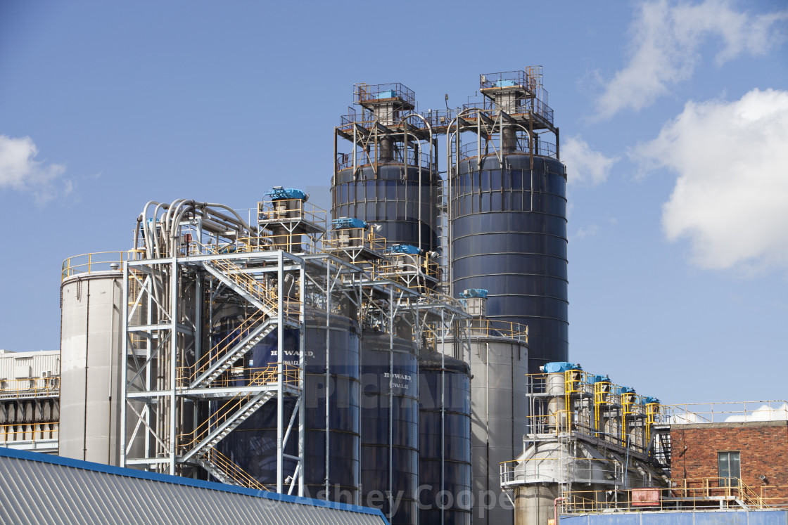 The Sabic plastics factory on the industrial complext at grangemouth