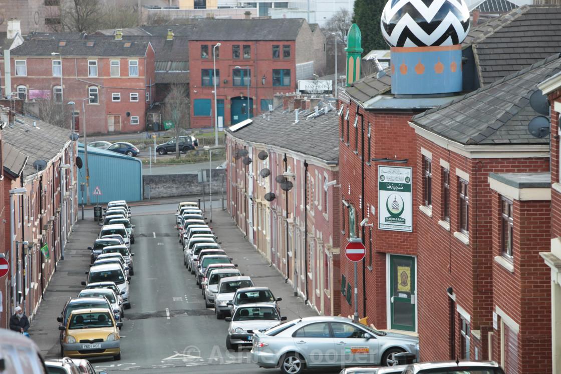 A Muslim area of Blackburn, Lancashire, UK. - License, download or ...