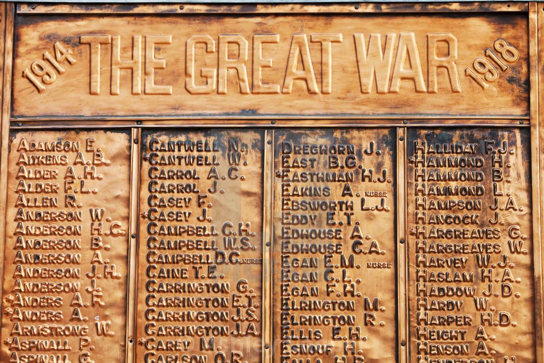 """A war memorial to soldiers killed in the Great War in Echuca, Victoria,..."" stock image"