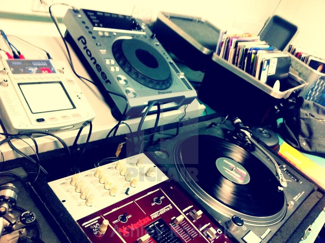 """Mixing - In the Studio"" stock image"
