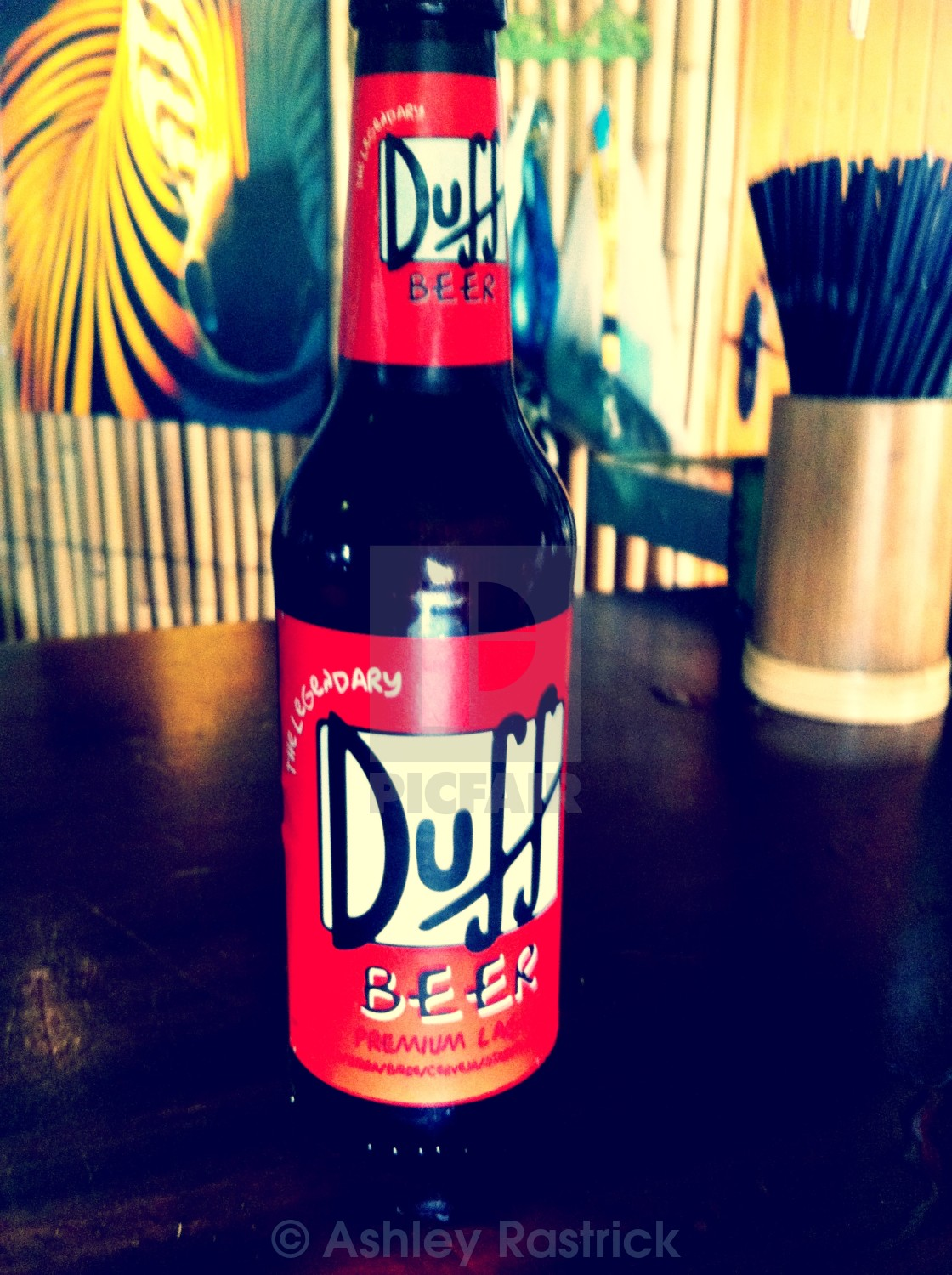 """""""Duff Beer - The Simpsons"""" stock image"""
