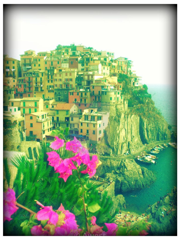 """""""Italian Village"""" stock image"""