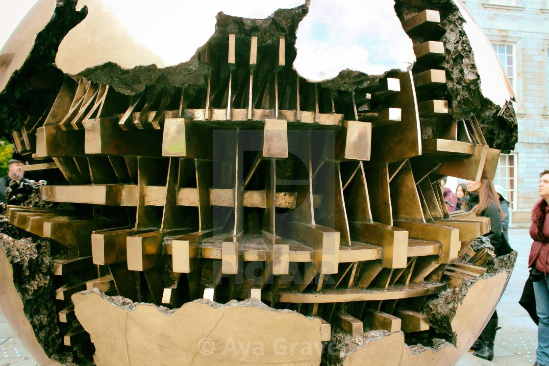 Sphere Within Sphere Sculpture Berkeley Library Trinity College